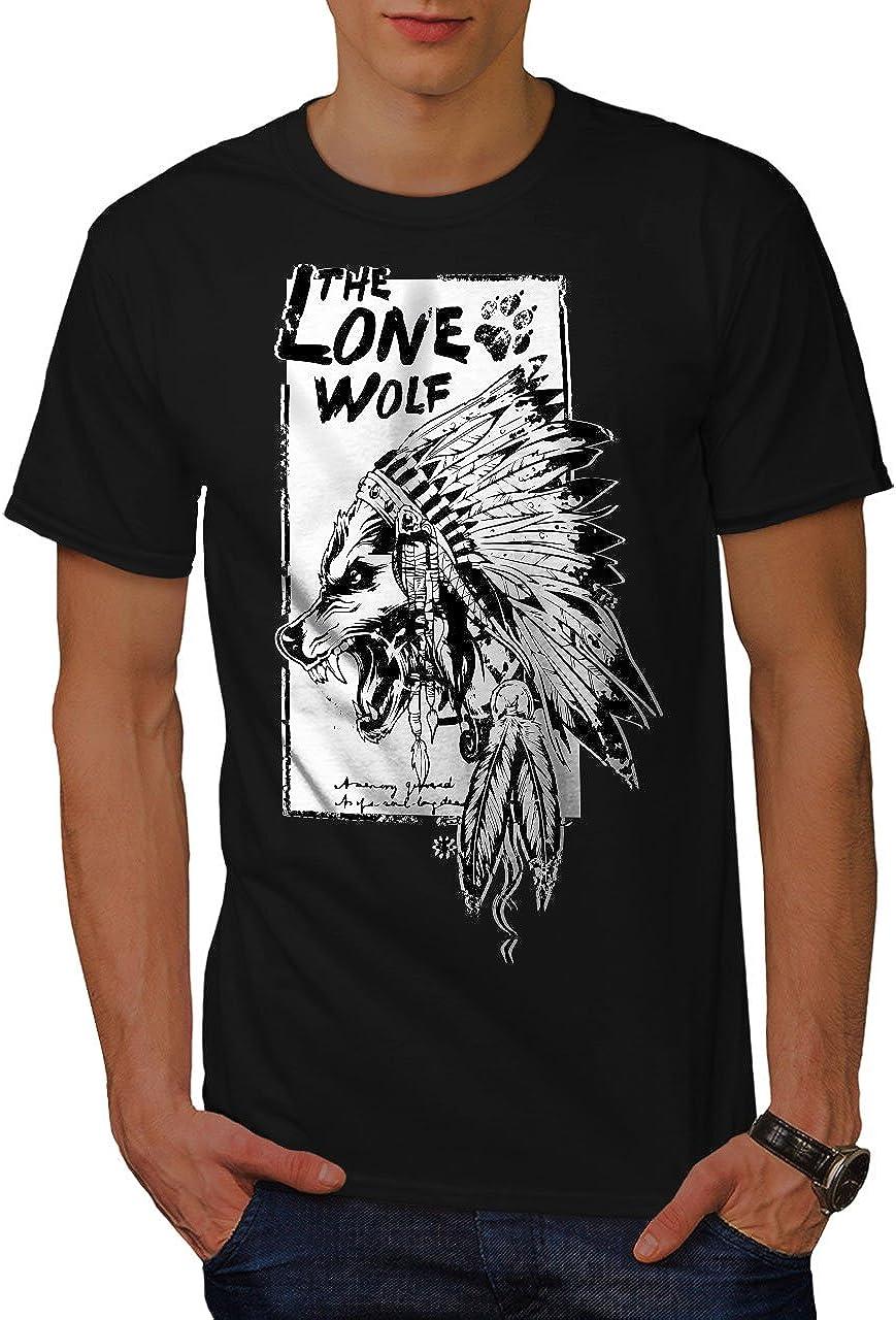 Wellcoda Le Seul Loup Indien Homme Sweat /à Capuche Sauvage/ Conception sur Le Dos des Cavaliers