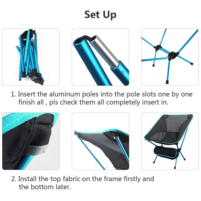 Sgabello portatile da campeggio pieghevole con borsa per il trasporto A