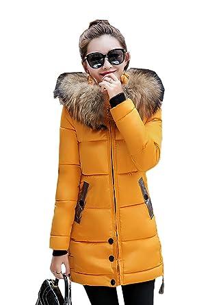 Veste hiver femme jaune