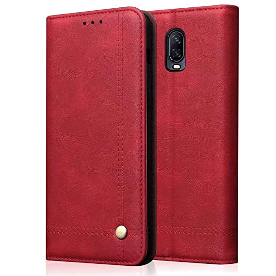 best service e5ac4 c8ba1 Mayround Compatible for OnePlus 6T Wallet Case,Shockproof Folio Book Cover  with Credit Card Slots,Cash Pocket,Magnet Closure Classic Leather Wallet ...