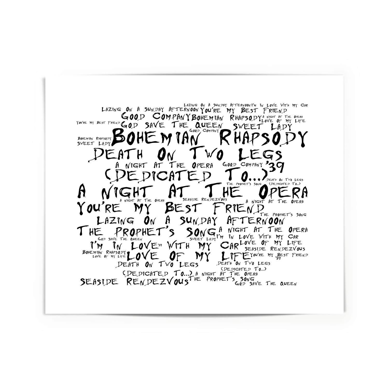 Queen Poster Print - A Night at the Opera - Letra firmada regalo arte cartel: Amazon.es: Hogar