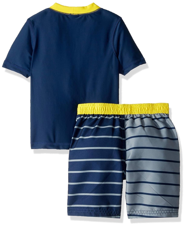 Kiko /& Max Boys Set with Short Sleeve Rashguard Swim Shirt