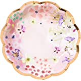 """Talking Tables Blossom Pack of 12-Size 7"""" Premium Quality Floral Plate 7"""" Scallop Edge-Ideal for Birthday Wedding Bridal…"""