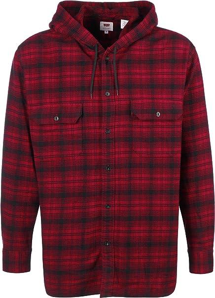 Levi's X Justin Timberlake Lumberjack Hooded Shirt in Red