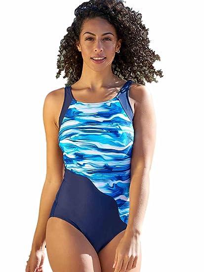 9ff1e3ea4d Nicola Jane Barbados Bias Cut Pocketed ~ Mastectomy Swimsuit: Amazon.co.uk:  Clothing