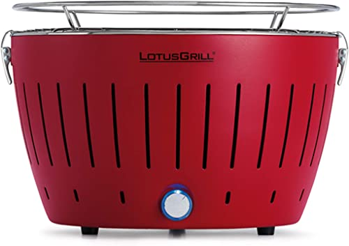 LotusGrill Smokeless Charcoal Grill Blazing Red