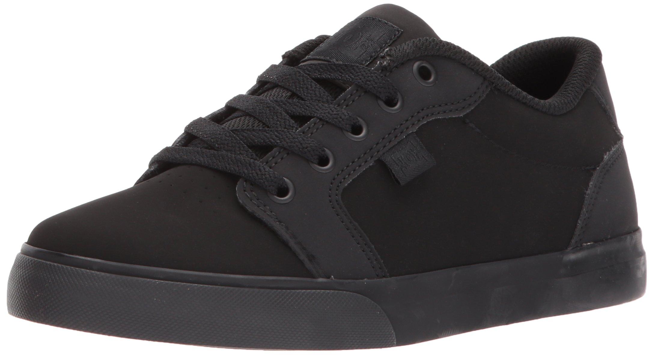 DC Youth Anvil Skate Shoe (Little Big Kid) Black, 12 M US