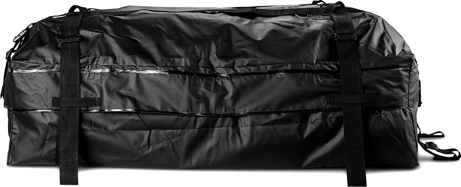 Stylish Car Roof Bag 100/% Water Proof FitPlus Cargo Carrier Roof Cargo Bag Compatible with Roof Rack Or No Roof Rack 2 Year Warranty Large Size 15 Cubic Feet