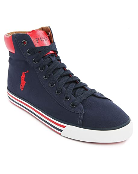 Scarpa Ralph Lauren Harvey mid blu: Amazon.es: Zapatos y complementos