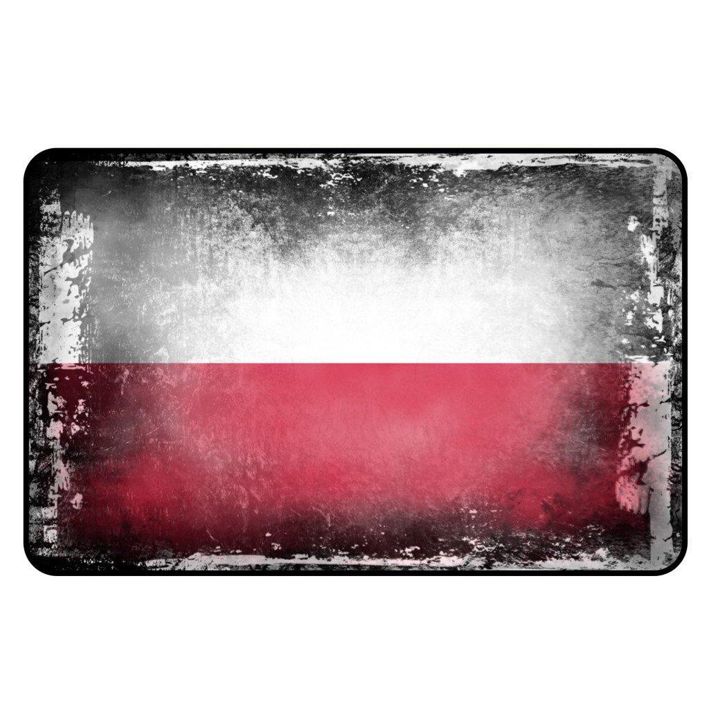 cadora r/ótulo magn/ético Frigor/ífico magn/ético Bandera Polonia Shabby Chic Desgastado Alt usado