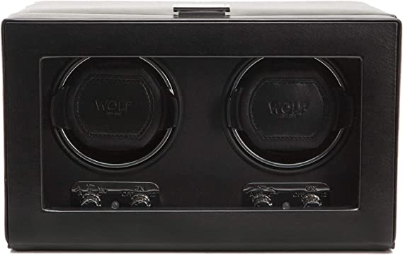 WOLF 270102 Heritage Double Watch Winder with Cover