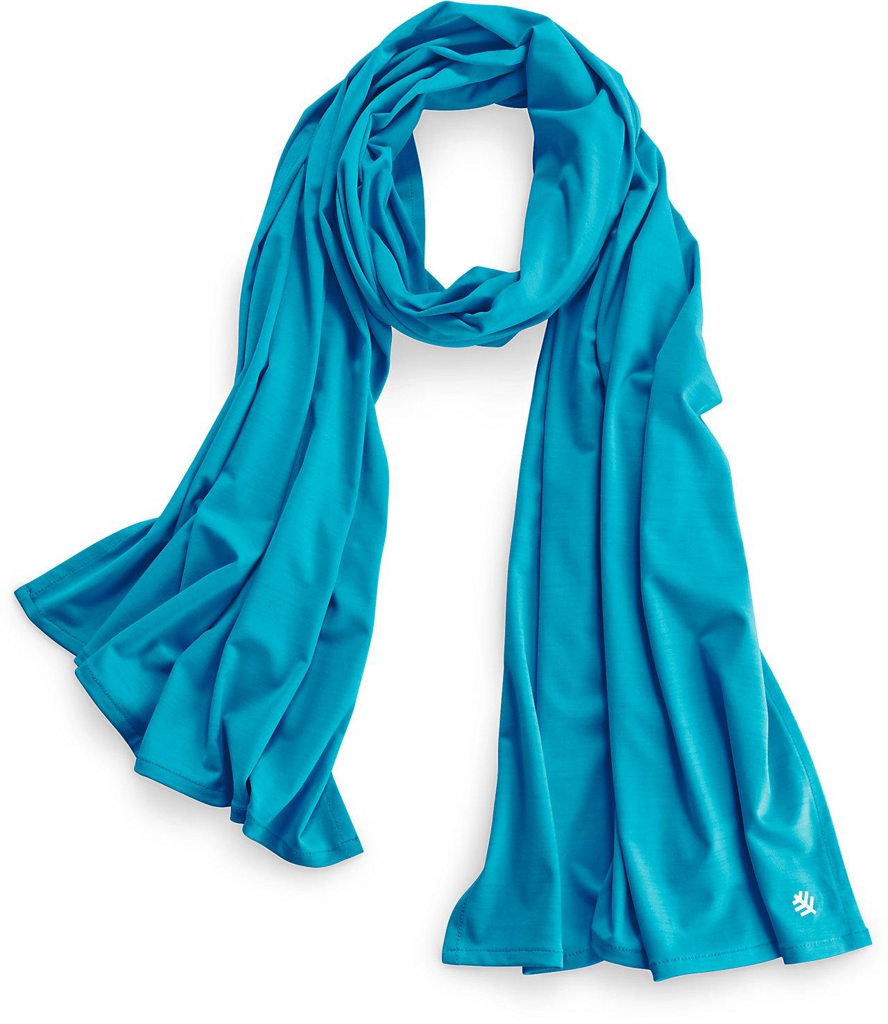 Coolibar UPF 50+ Women's Performance Sun Shawl - Sun Protective (One Size- Blue Turquoise)