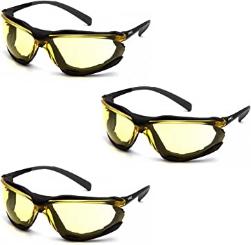 PYRAMEX PROXIMITY CLEAR H2X ANTI-FOG FOAM PADDED SAFETY GLASSES Z87.1 1 PAIR