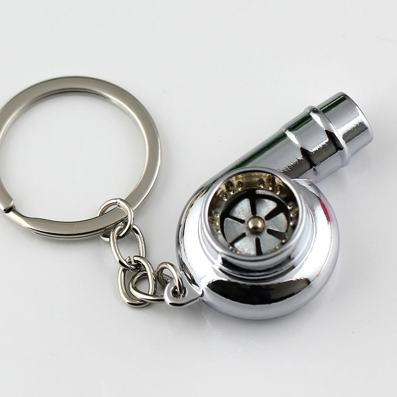 Neo Rainbow Maycom/® Creative Sleeve Spinning Turbo Turbine Turbocharger Keychain Key Chain Ring Keyring Keyfob
