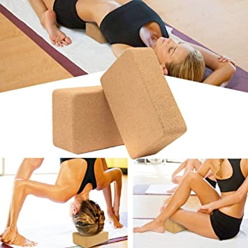 Little Dedo Yoga Block Pilates Cork Brick Home Stretch Aid ...