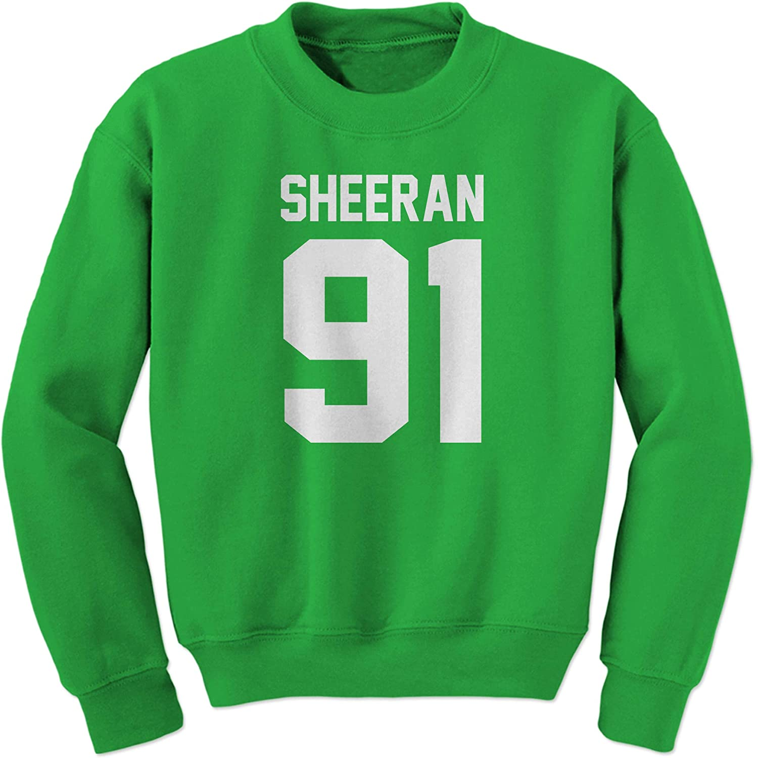 FerociTees Sheeran 91 Jersey Style Birthday Year Crewneck Sweatshirt 3277-C