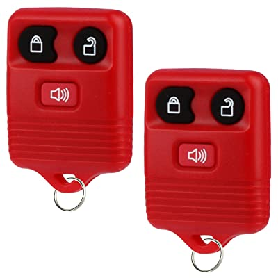 Key Fob fits 1998-2016 Ford Lincoln Mercury Mazda Keyless Entry Remote (Red), Set of 2: Automotive