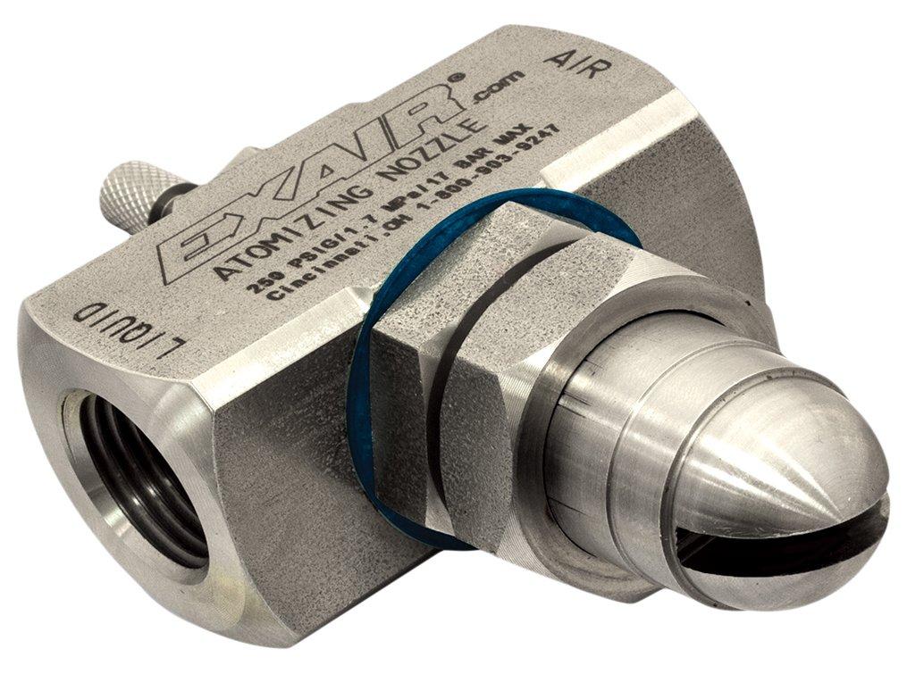 EXAIR AF5020SS Atomizing Nozzle, 231 GPH Maximum Flow Rate, 874 LPH Max