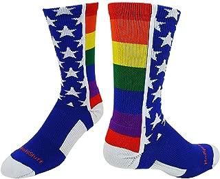 product image for MadSportsStuff Rainbow Pride Crew Socks
