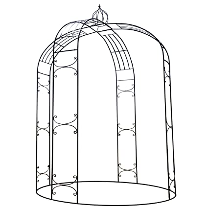 OUTOUR® Stereoscopic Metal Garden Arch Arbor Arbour Archway With Graceful  Curve For Climbing Plants Roses ...