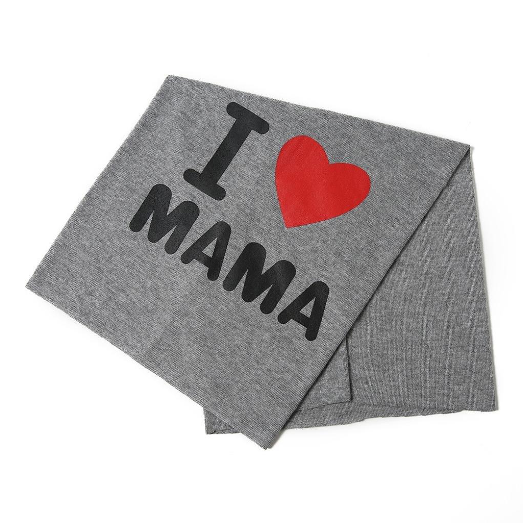 JPOQW Baby Girls Boys Bib Hat I Love PAPA Mama Dual Use Cap Cotton Cap Hats Infant Scarves