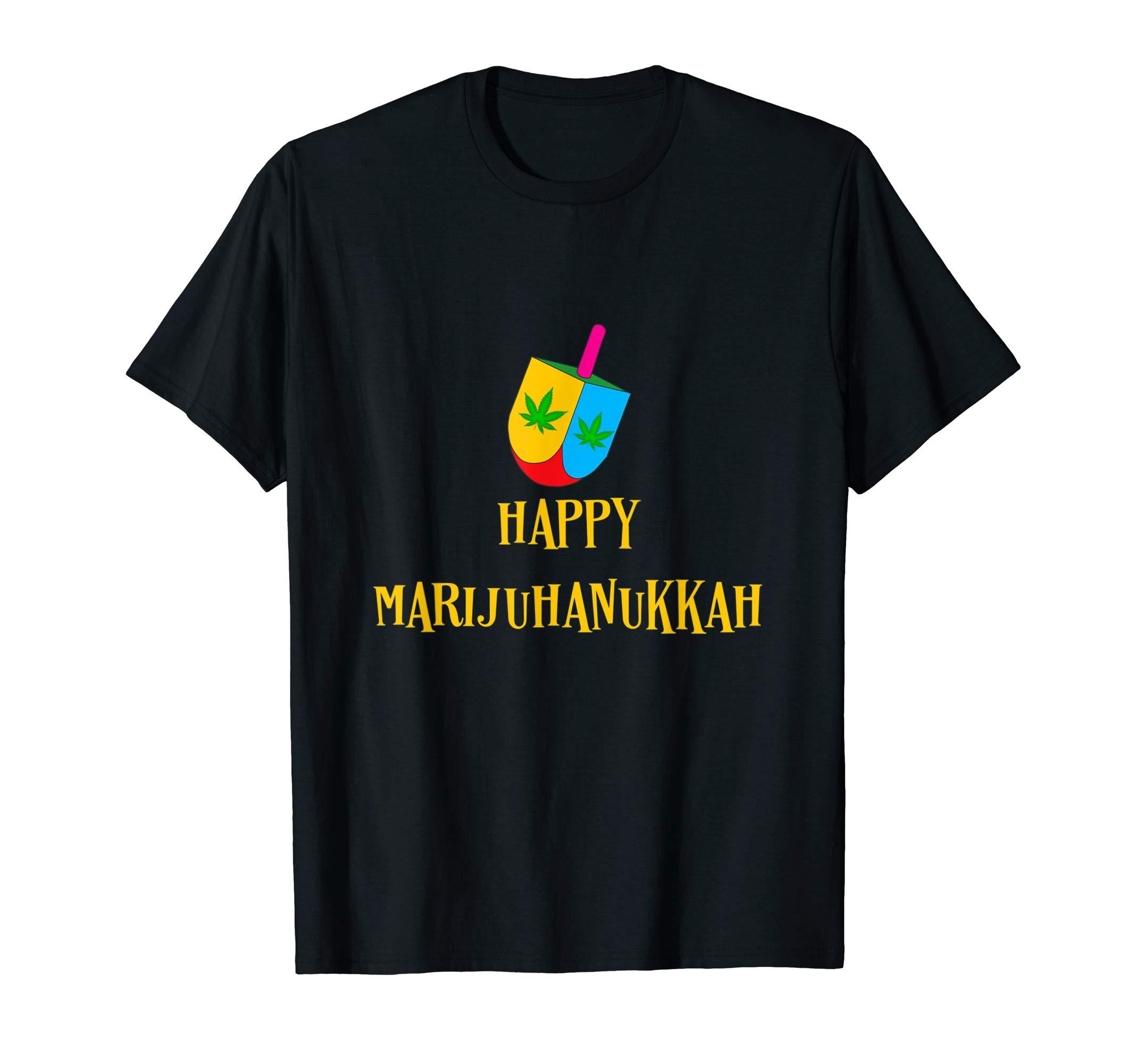 Hanukkah Weed Dreidel Happy Marijuhanukkah Am Israel High T-Shirt