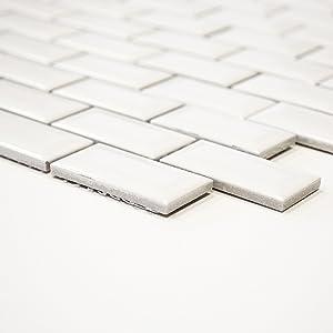 azulejos mosaico mosaico azulejos cerámica pared cocina baño inodoro color Blanco Brillo 5 Mm) # 361