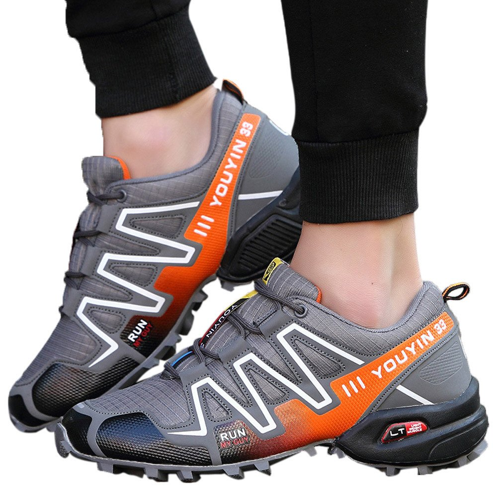 Sneakers For Mens Clearance Sale ,Farjing Men Running Shoes Hiking Shoes Sneakers Athletic Outdoor Sports Hiking Sneakers(US:7.5,Gray)