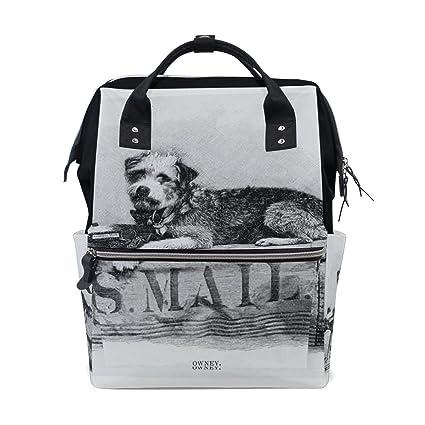 BENNIGIRY - Bolsa de pañales para perro, gran capacidad, para viajes, bolsas de