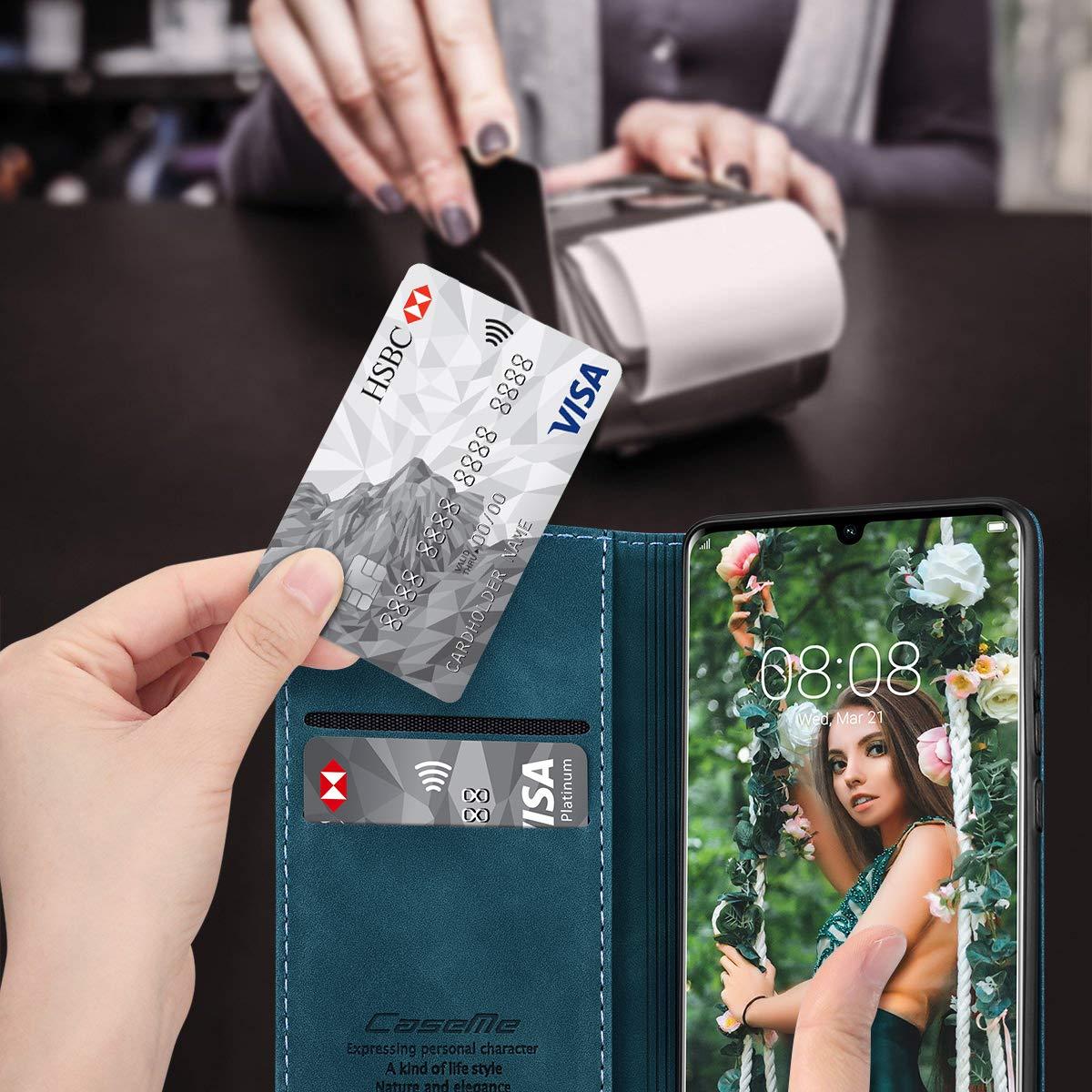 Azul RuiPower para Funda Huawei P Smart 2019// Honor 10 Lite Libro con Tapa Flip Folio Case de PU Cuero Silicona Soporte Plegable Ranuras Tarjetas y Billetera Magn/ético Carcasa Huawei P Smart 2019