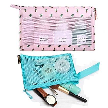 Amazon.com: Enyuwlcm Bolsas de cosméticos portátiles y ...