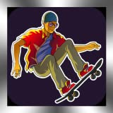 Skateboarding 3D - Skater Die Hard Skate Board Game