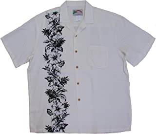 product image for Paradise Found Hibiscus Panel Men's Rayon Shirt