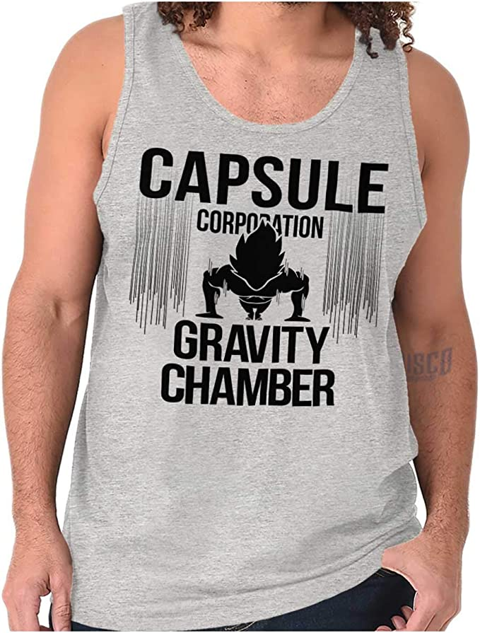 Nerdy Goku Ninja Pill Corporation Chamber Tank Top