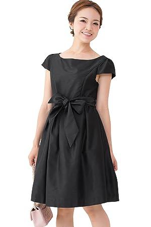 5c514afde2e08 Sweet Mommy  日本製 シャンブレーシャンタン リュクス上品ドレス キャップスリーブ ウエストリボン プリンセス