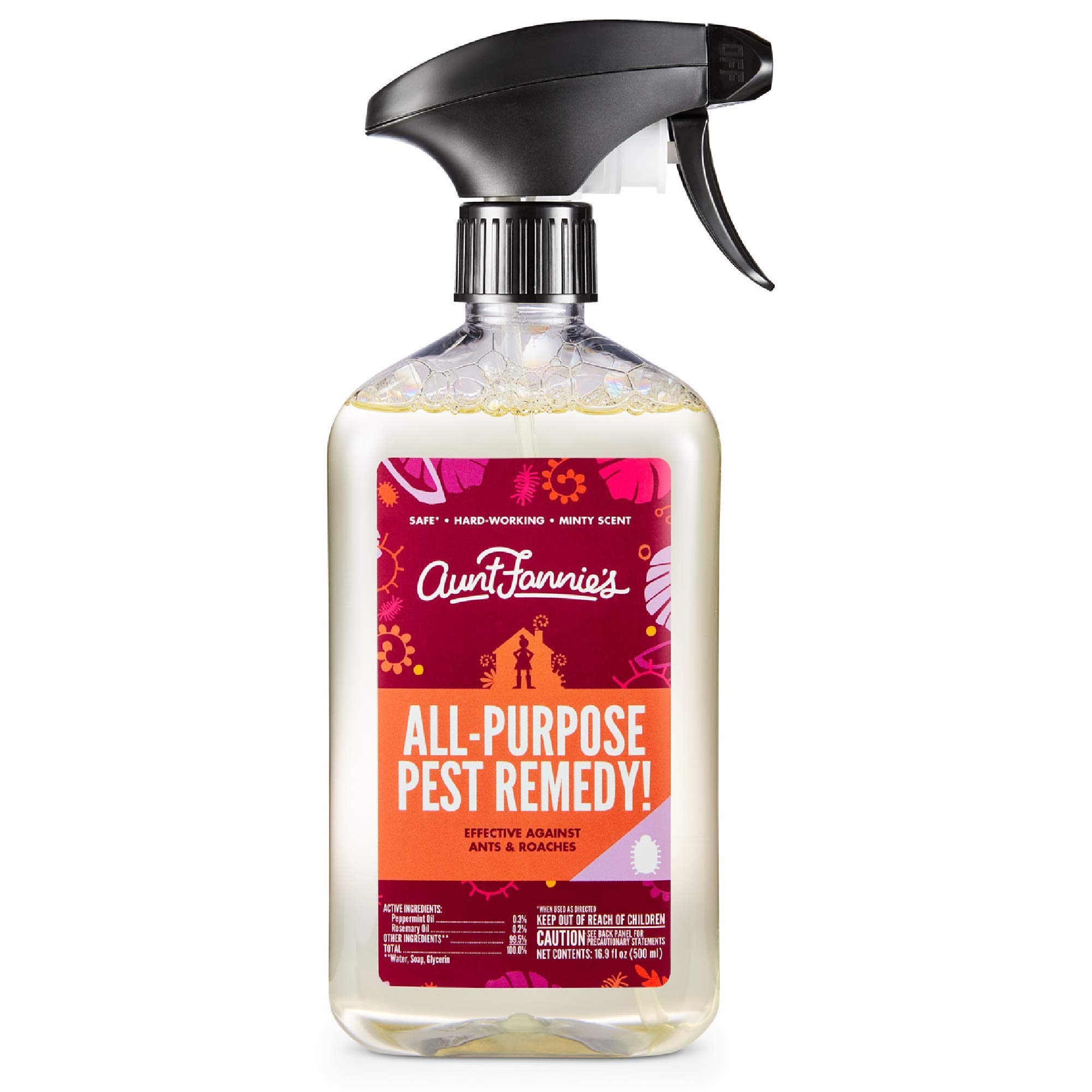 Aunt Fannie's All-Purpose Pest Remedy, Liquid Ant & Roach Killer Spray for Indoor Use (Single)