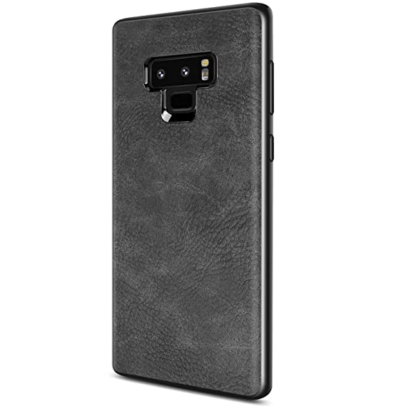 size 40 2162c 92db7 Samsung Galaxy Note 9 Case, Salawat Slim PU Leather Vintage Shockproof  Phone Case Cover Lightweight Premium Soft TPU Bumper Hard PC Hybrid  Protective ...