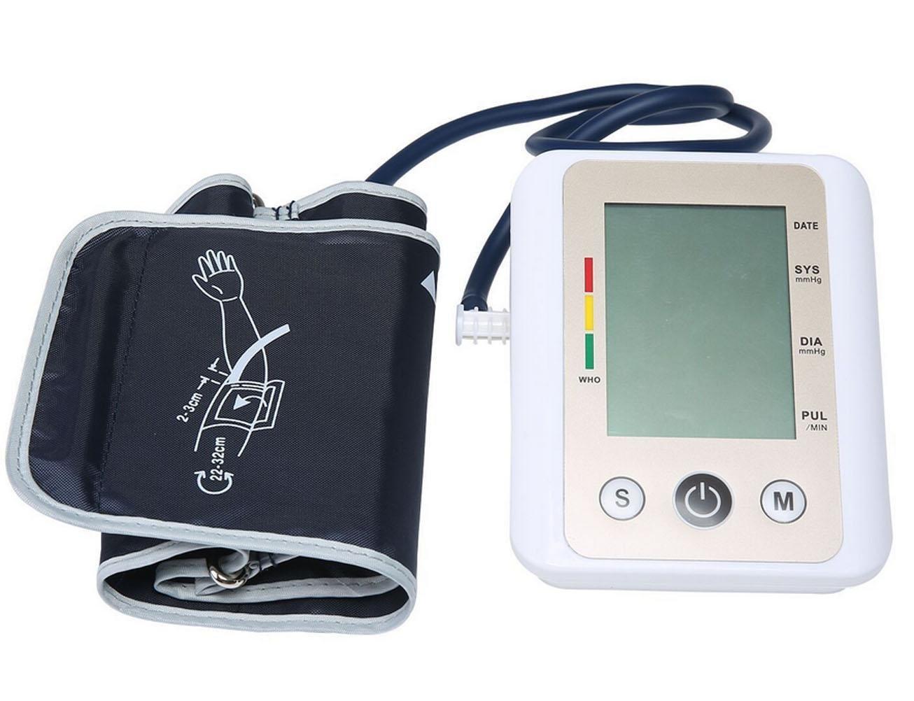 HRRH automático presión Arterial Arm Inteligente Tensiómetro Voz Pantalla Grande Salud Monitor Portable Medicina BGE Pulse Tensiómetro Antiguas Familia de ...