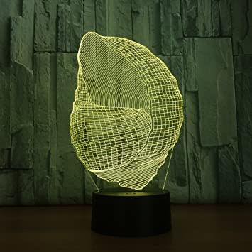 Amazon.com: Conch Shell 3d Visual luz de noche LED lámpara ...