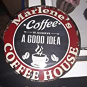 CPCH-0774 BENITA/'S COFFEE HOUSE Chic Tin Sign Decor Gift Ideas