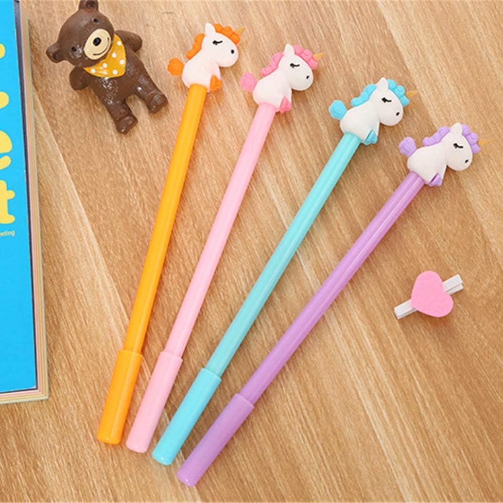Cat gel pen black ink writing pen cute stationery school office supplies 6pcs