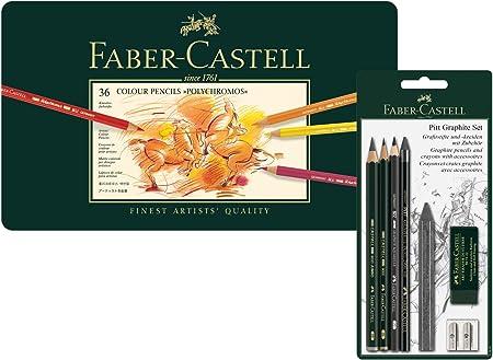 Faber-Castell Polychromos - Juego de 36 lápices de colores en estuche de metal: Amazon.es: Juguetes y juegos