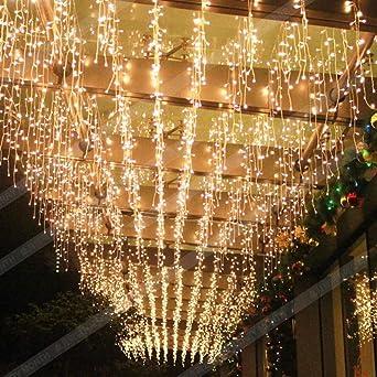 Led Weihnachtsbeleuchtung Warmweiss.Elegear Lichtervorhang 144 Leds Warmweiß Lichterkette 8 Modi 4x0 6 Meter Led Weihnachtsbeleuchtung Strombetrieb Deko Für Innen Außen Neujahr