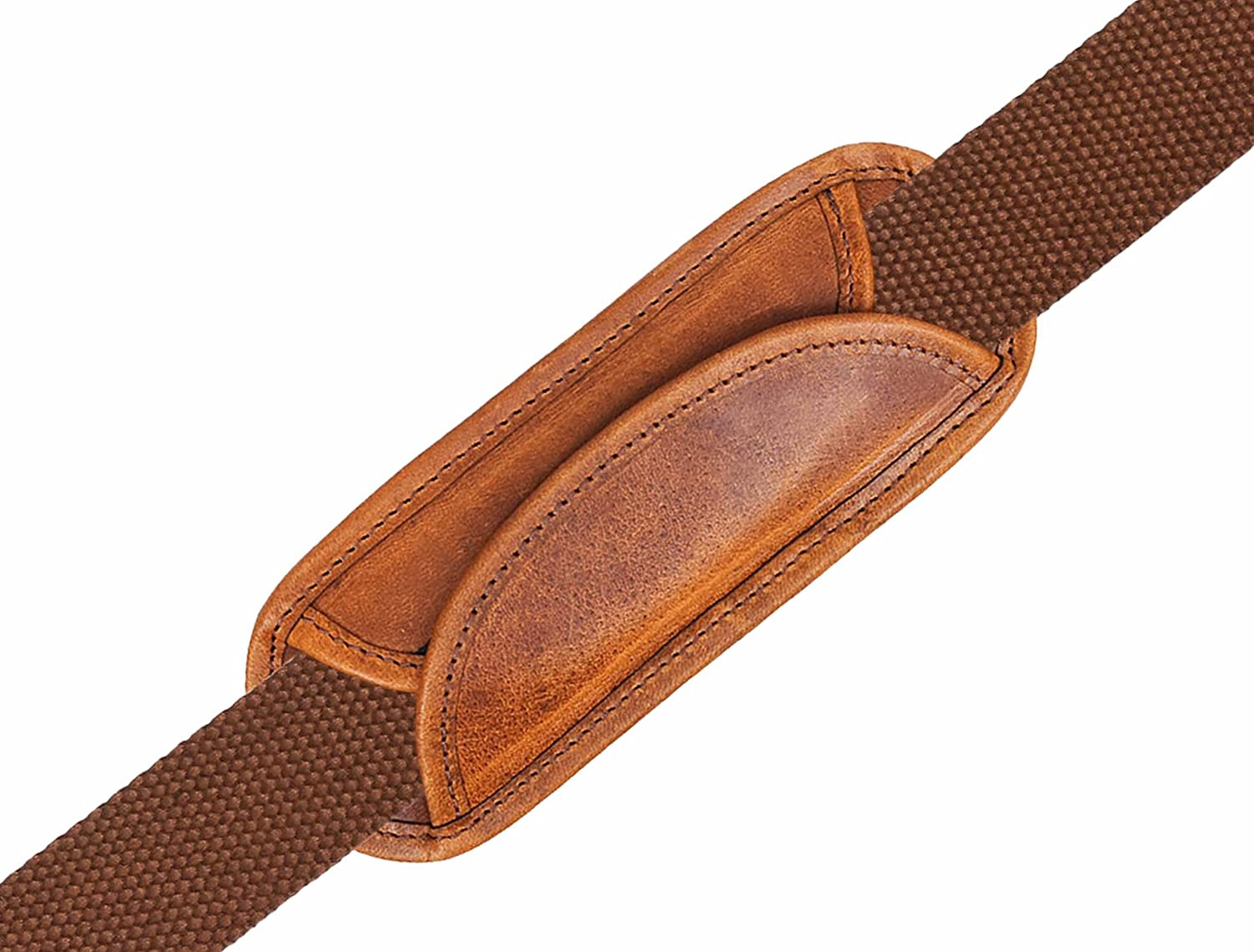 Replacement Shoulder Pad for Camera,Backpack,Messenger,Laptop,Guitar,Bag by Aaron Leather Goods (Brown)