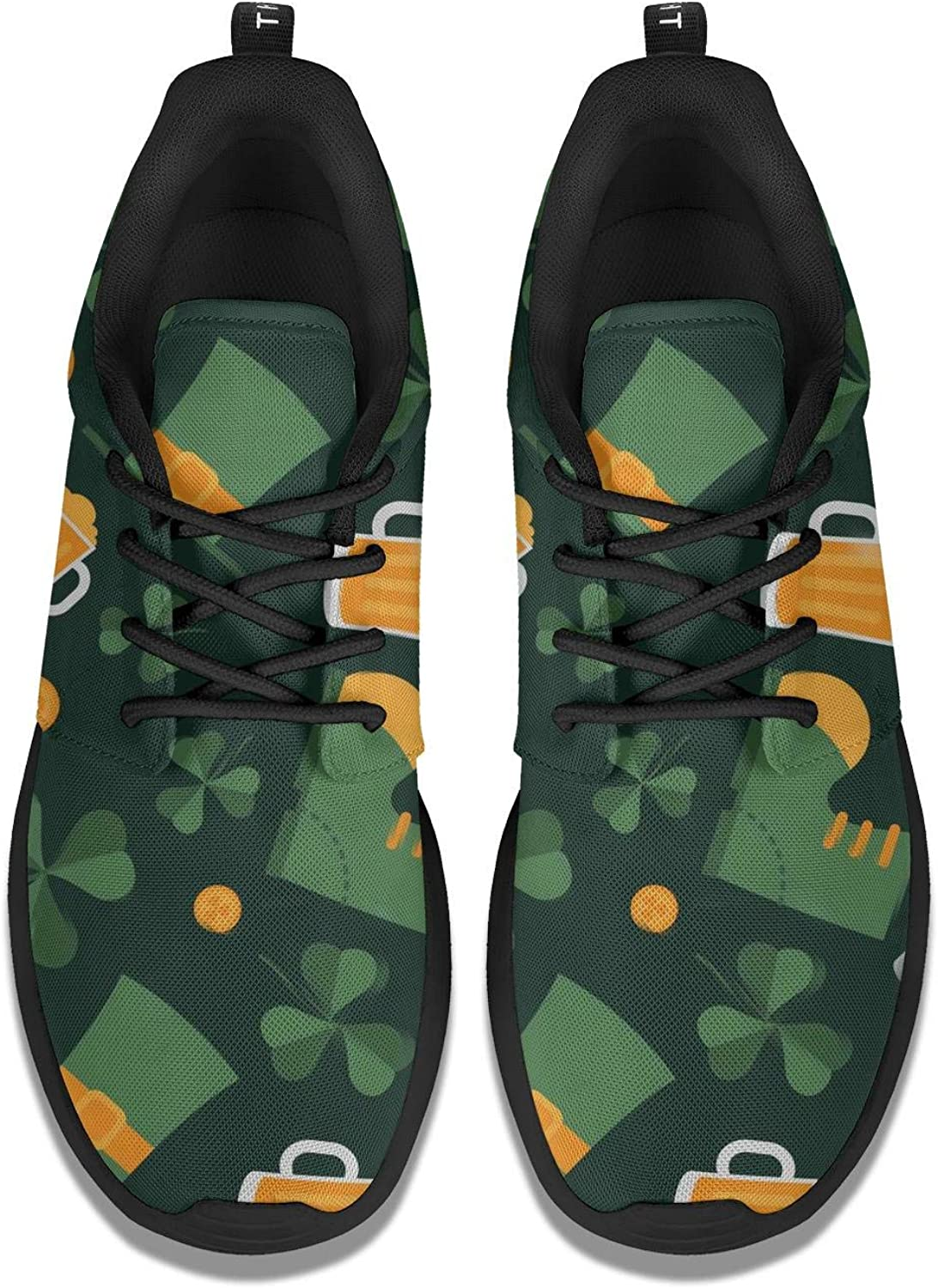 St Patricks Day Irish Flag Women Running Shoes Rubber Sole Tennis Shoes Casual Shoes
