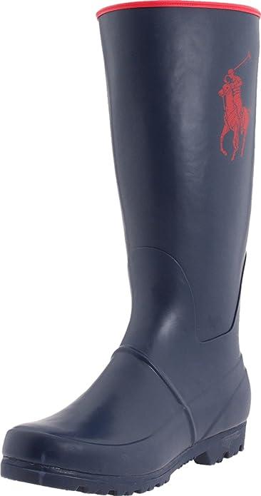 b2563dad5 Polo Ralph Lauren Proprietor Large Pony Boots Unisex-Child Blue Blau Navy  Rubber