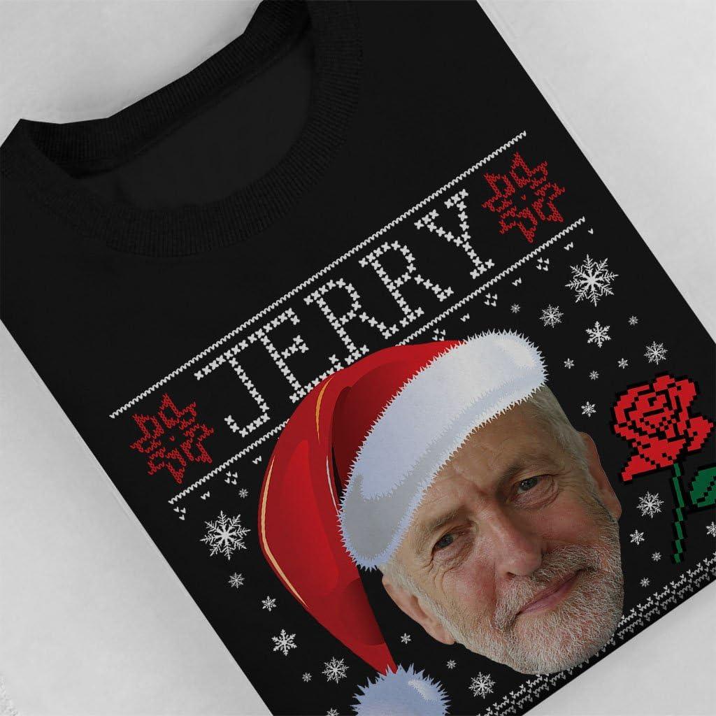 Jeremy Corbyn Santa Hat Jerry Christmas Knit Pattern Kids Sweatshirt