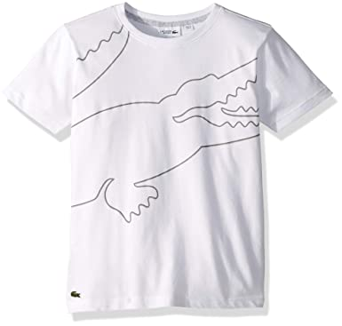 8739f77f8 Amazon.com: Lacoste Men's Boy Big Croc Shape Along The Body T-Shirt:  Clothing