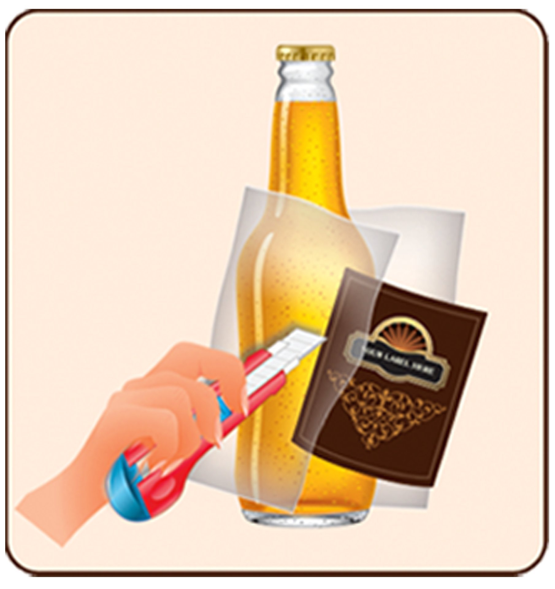 FastLabel Fermentation Accessories - Standard 12oz Beer Bottle labels - Never scrub a bottle again brought to you by FastFerment by FastLabel (Image #9)