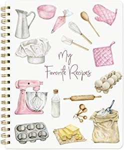 Recipe Notebook Blank Cookbook Spiral Recipe Journal Blank Recipe 8.5